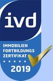 IVD Fortbildungszertifikat  2019 für Immobiliensekretär Marcus Krause