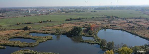 Makler-Mühlenbeck - Luftbild über Mühlenbeck - Schönerlinder Teiche