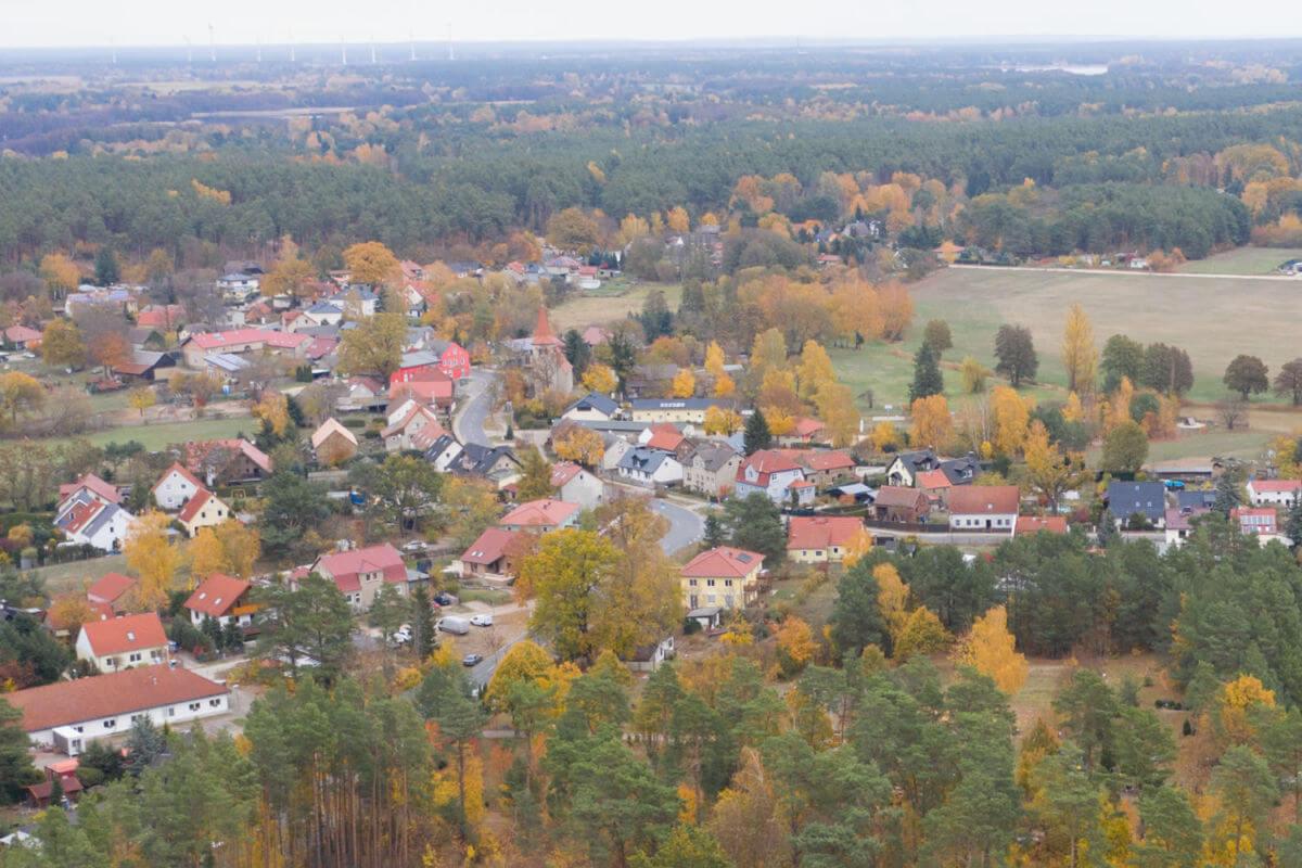 Luftbild Zühlsdorf mit Dorfzentrum - Gemeinde Mühlenbecker Land