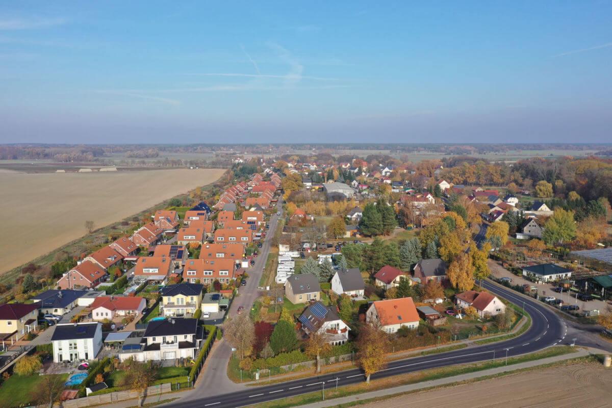 Luftbild Schoenfliess in Mühlenbecker Land