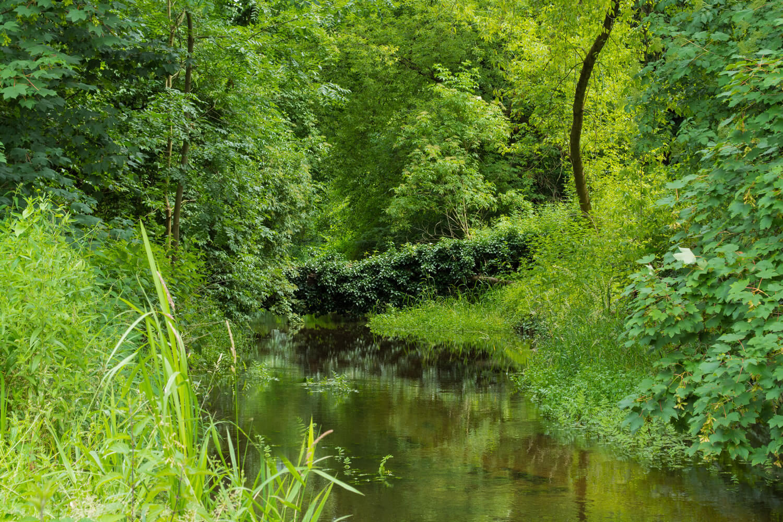 Tegeler Fließ am Ortsteingang Schildow - Makler Schildow