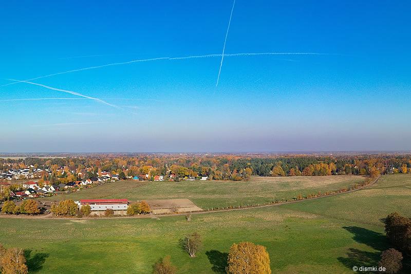 Luftbild von Schildow - Reithalle - Makler Schildow