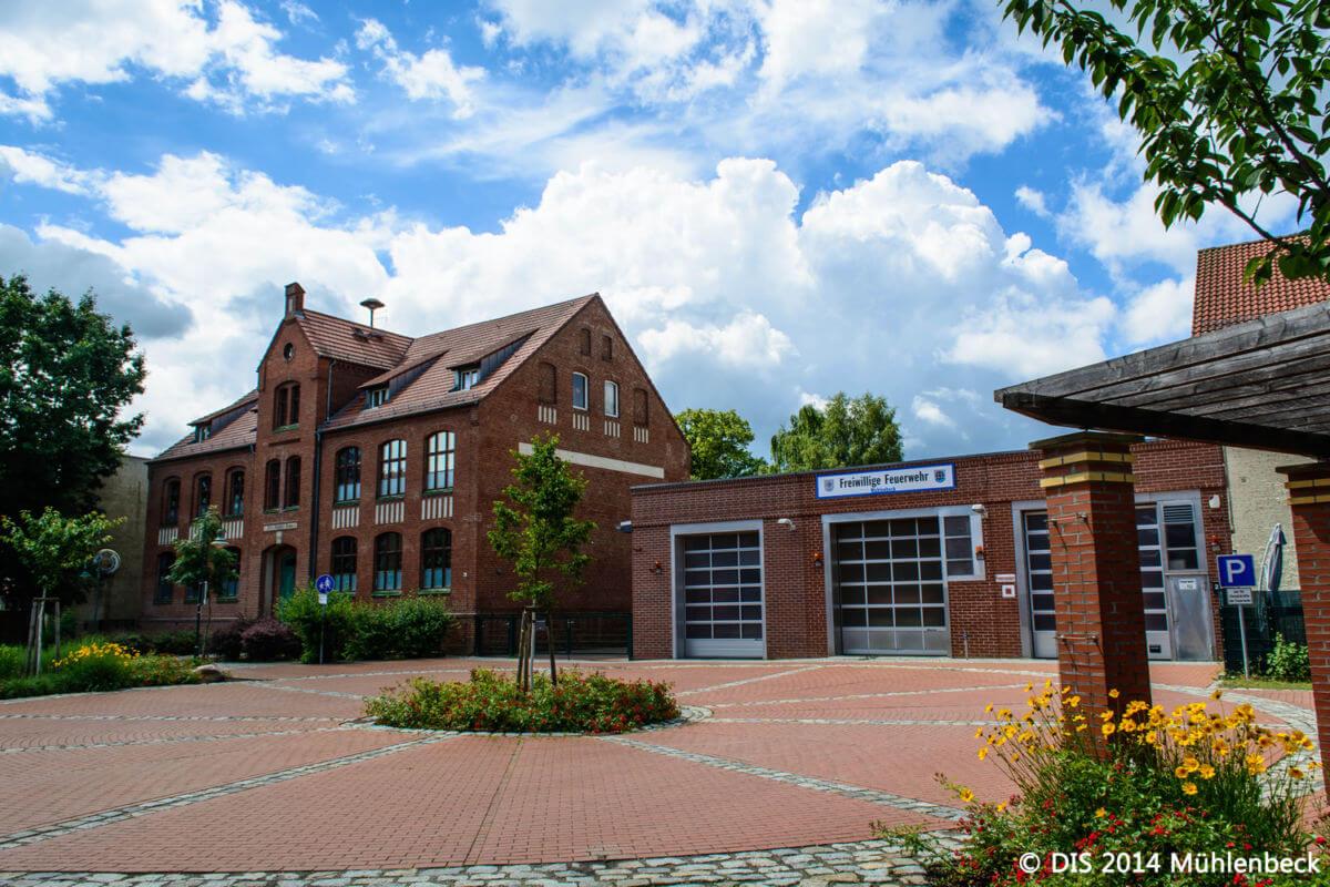 Gebäude der Freiwilligen Feuerwehr in Mühlenbeck in Mühlenbecker Land