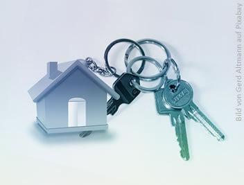 Schlüssel mit Haus als Anhänger - Streitthema: Kündigung wegen Eigenbedarf
