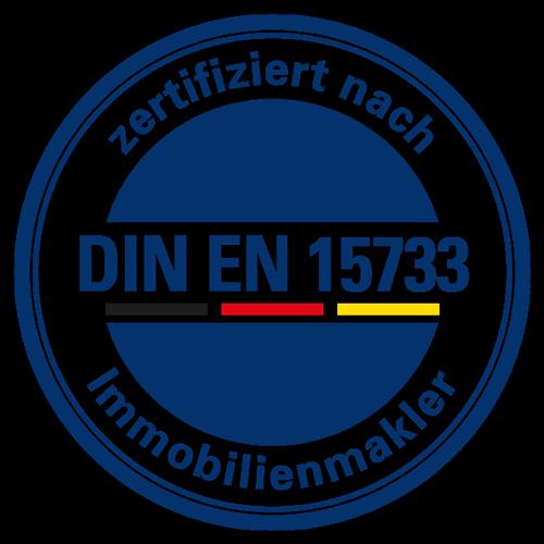 Die Zertifizierungsstelle DIA Consulting AG Freiburg hat mich nach europäischer Maklernorm DIN EN 15733 zertifiziert!
